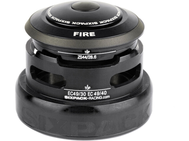 Sixpack Fire 2In1 Jeu de direction ZS44/28.6 I EC49/30 et ZS44/28.6 I EC49/40, black